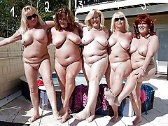 The oldest amateur grannies showing off
