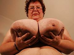 Huge tittied amateur grannies